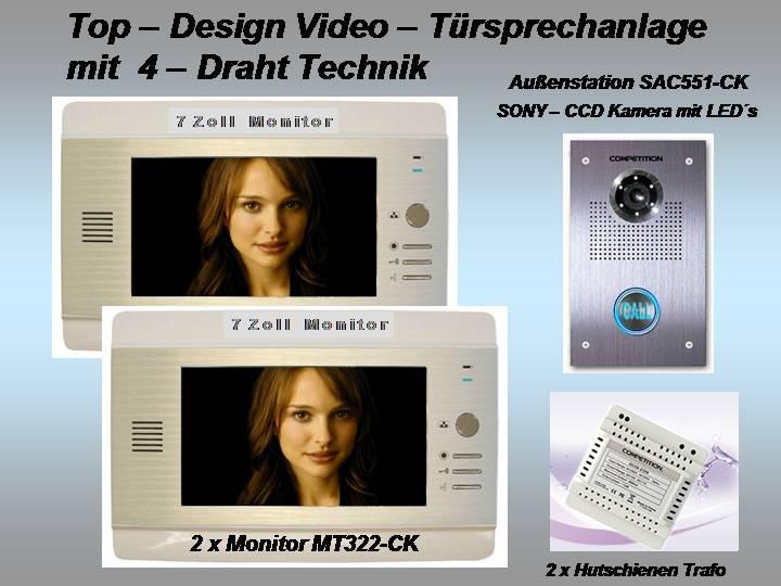 video t rsprechanlage 7 monitor ultraflach 18mm 4 draht technik sony kamera ebay. Black Bedroom Furniture Sets. Home Design Ideas