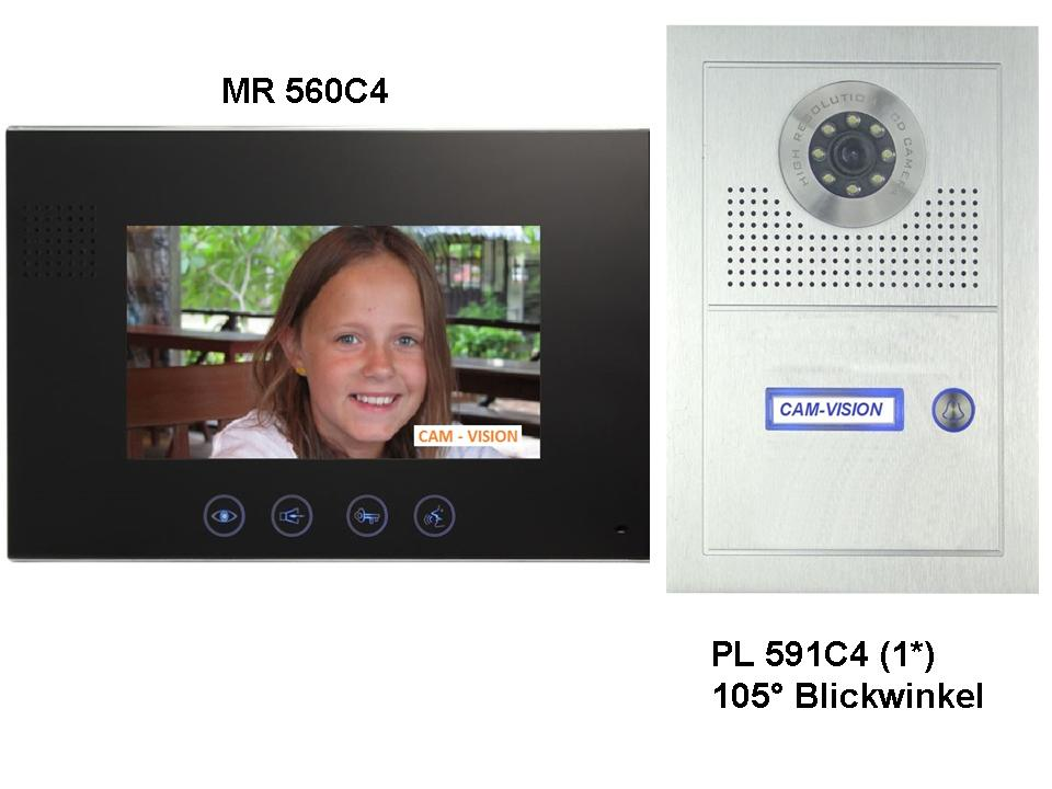 neu 105 blickwinkel video t rsprechanlage 7 zoll touch monitor superflach 23mm ebay. Black Bedroom Furniture Sets. Home Design Ideas