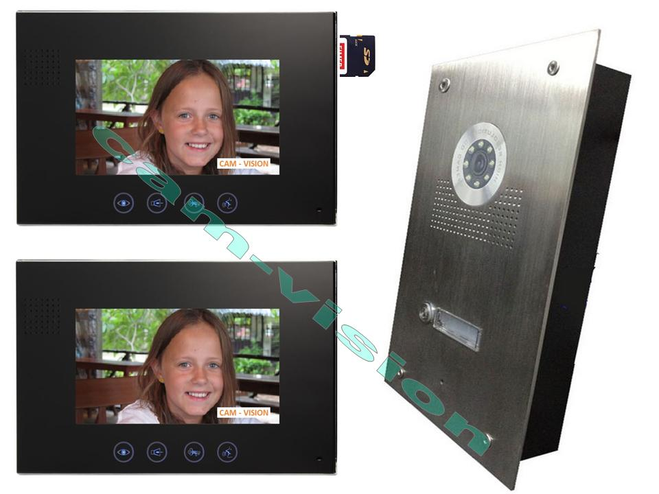 neu villa video t rsprechanlage weitwinkel kamera105 2x7 memory dvr monitore ebay. Black Bedroom Furniture Sets. Home Design Ideas